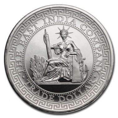 Moneda de Plata French Trade Dollar Restrike de Santa Elena 2020 1 oz
