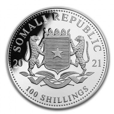Moneda de Plata Elefante de Somalia 2021 1 oz