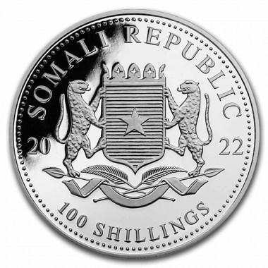 Moneda de Plata Elefante de Somalia 2022 1 oz