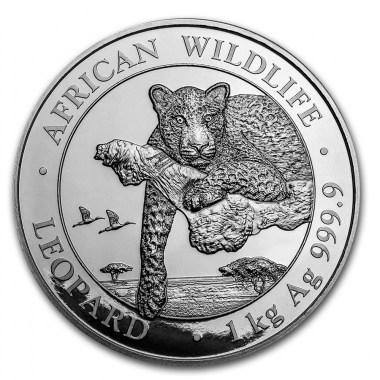 Moneda de Plata Leopardo de Somalia 2020 1 kg