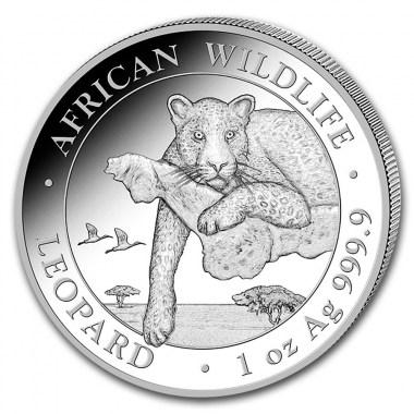 Moneda de Plata Leopardo de Somalia 2020 1 oz