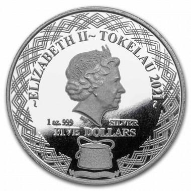 Moneda de Plata Pez Erizo de Tokelau 2021 1 oz