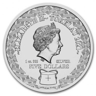 Moneda de Plata Zodiaco - Cáncer de Tokelau 2021 1 oz