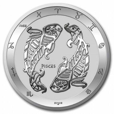 Moneda de Plata Zodiaco - Piscis de Tokelau 2021 1 oz