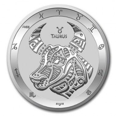 Moneda de Plata Zodiaco - Tauro de Tokelau 2021 1 oz