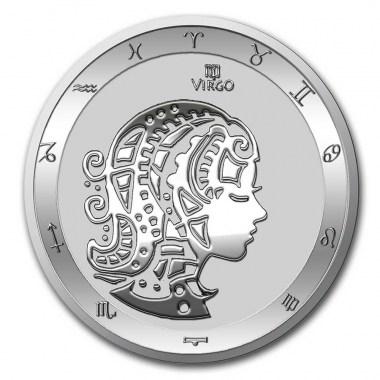 Moneda de Plata Zodiaco - Virgo de Tokelau 2021 1 oz