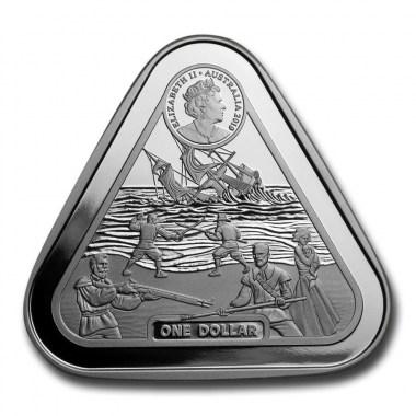 Moneda de Plata Triangular Batavia 2019 1 oz