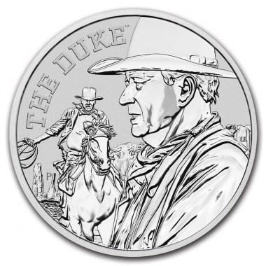 Moneda de Plata John Wayne de Tuvalu 2020 1 oz
