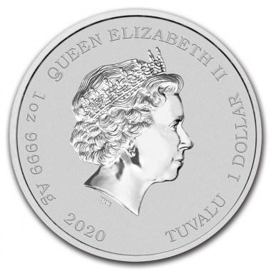 Moneda de Plata Los Simpson Bart Simpson de Tuvalu 2020 1 oz