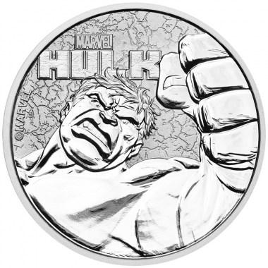 Moneda de Plata Marvel Hulk de Tuvalu 2019 1 oz