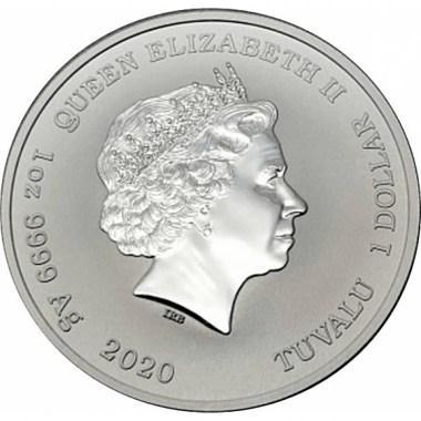 Moneda de Plata Ottifanten de Tuvalu 2020 1 oz