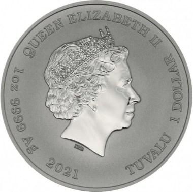 Moneda de Plata Ottifanten de Tuvalu 2021 1 oz
