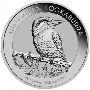 Moneda de Platino Kookaburra 2021 1/10 oz