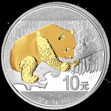 Moneda Panda Dorado 2016 Plata 30 g