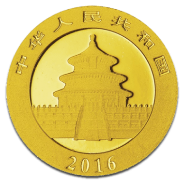 Moneda Panda 2016 Oro 15 g