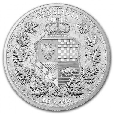 Germanía y Columbia Alemania 2019 2 oz de Plata