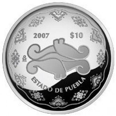 Moneda Puebla 2 Fase Proof 1 Oz