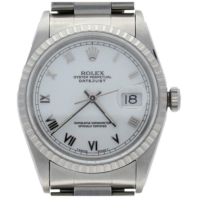 4f7cc6f92b8 Montre Rolex Datejust Acier 16220. Reloj Rolex Datejust Acero 16220
