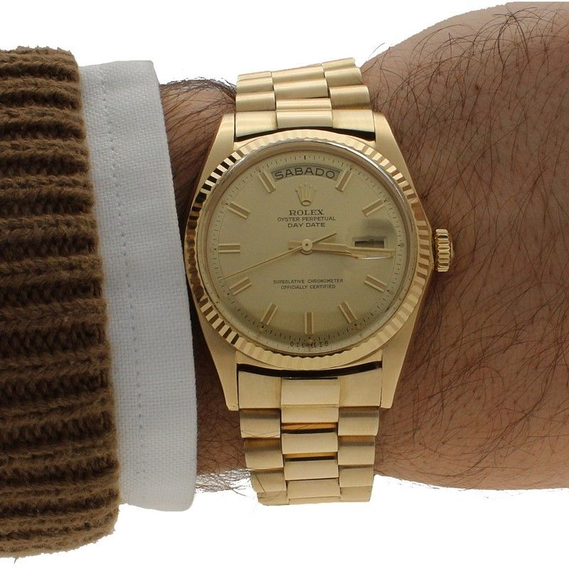 0cb61107db6 Reloj Rolex Day Date President Oro 1803 detalle. Reloj ...