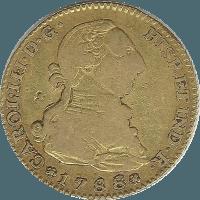 Moneda Carlos III 2 Escudos Oro 1788 Madrid M 6,77 g
