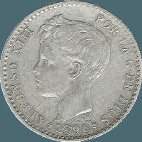 Moneda Alfonso XIII 50 Céntimos Plata PGV 2,53 g