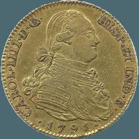 Moneda Carlos IV 4 Escudos Oro 1791 Madrid MF 13,48 g