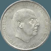 Moneda Estado Español 100 Pesetas Plata 1966*1967 18,88 gr