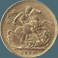 Moneda Reino Unido Soberano Oro 7,97 g