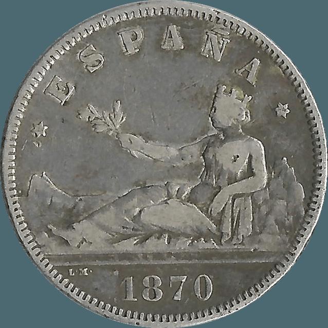 Moneda Gobierno Provisional 2 Pesetas Plata DEM 9,92 g