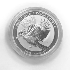 Moneda Australia Kookaburra Plata 2018 10 oz