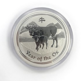 Moneda Australia 30 Dollars Año del Buey Plata 2009 1 Kg