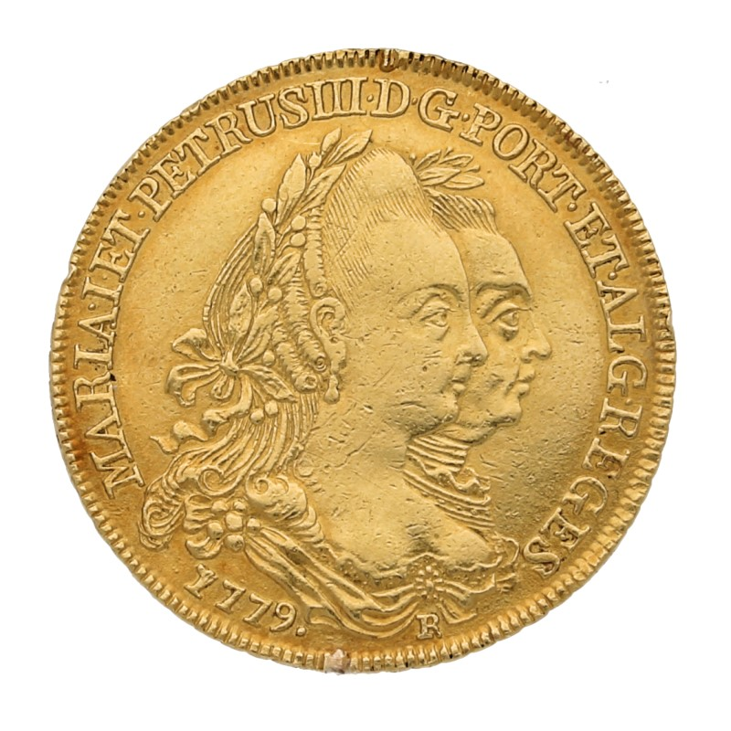 Moneda Corea del Norte 6400 Reis Oro 1779 14,19 g