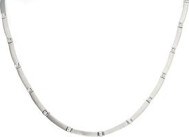 Gargantilla Articulada Oro Blanco y Diamantes talla brillante 0,69 Ct. aprox. 24,35 g