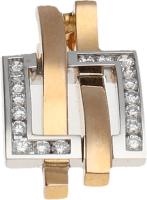 Colgante Bicolor Oro Rosa y blanco. Diamantes talla brillante 0,36 Ct. 7,70 g