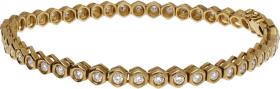 Pulsera Riviere Oro Amarillo y Diamantes talla brillante 2,3 Ct. 15,60 g