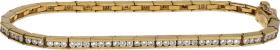 Pulsera Riviere Oro Amarillo y Diamantes talla brillante 2 Ct. 15,80 g