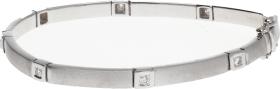 Pulsera Articulada Oro Blanco y Diamantes talla brillante 0,40 Ct. aprox. 14,38 g