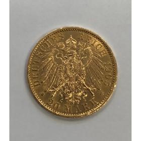 Moneda Alemania 20 Mark Oro 1905 7,98 g