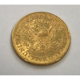 Moneda Estados Unidos 5 Dollars Oro 1894 8,36 g