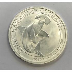 Moneda Australia 50 Cent Tiburón Martillo  Plata 2015 <sup>1</sup>/<sub>2</sub> oz