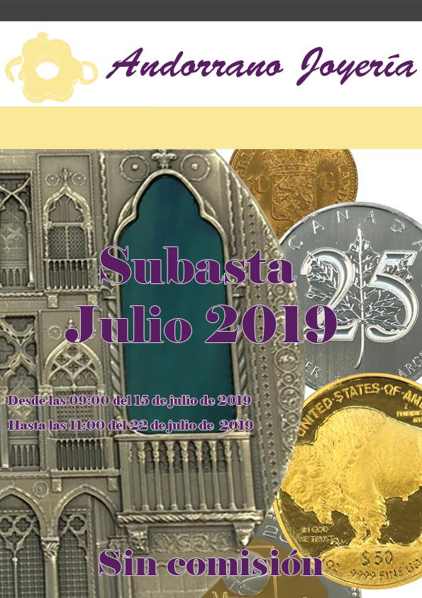 Subasta Julio 2019