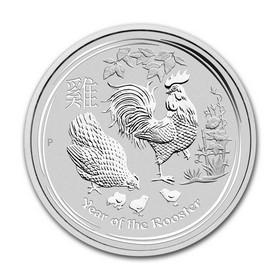 Moneda Australia Año Lunar del Gallo Plata 2017 10 oz