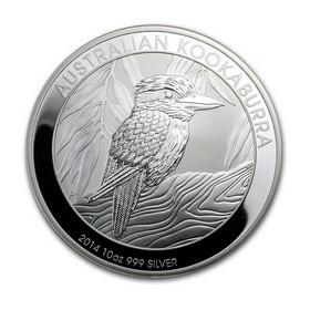 Moneda Australia Kookaburra Plata 2014 10 oz