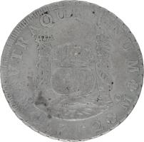 Moneda Fernando VI 8 Reales Plata 1752 M'éxico MF 27,08 g