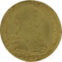 Moneda Carlos III 8 Escudos Oro Nuevo Reino JJ 26,84 g