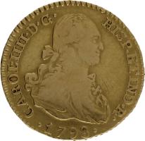 Moneda Carlos IIII 1 Escudo Oro 1798 Madrid MF 3,38 gr