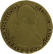 Moneda Fernando VII 1 Escudo Oro 1810 Nuevo Reino JF 3,25 g