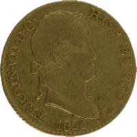 Moneda Fernando VII 2 Escudos Oro 1820 Madrid CJ 6,70 g