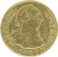 Moneda Carlos III 1/2 Escudo Oro 1787 Madrid DV 1,70 g