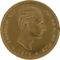 Moneda Alfonso XII 25 Pesetas Oro 1876 DEM 8,05 gr